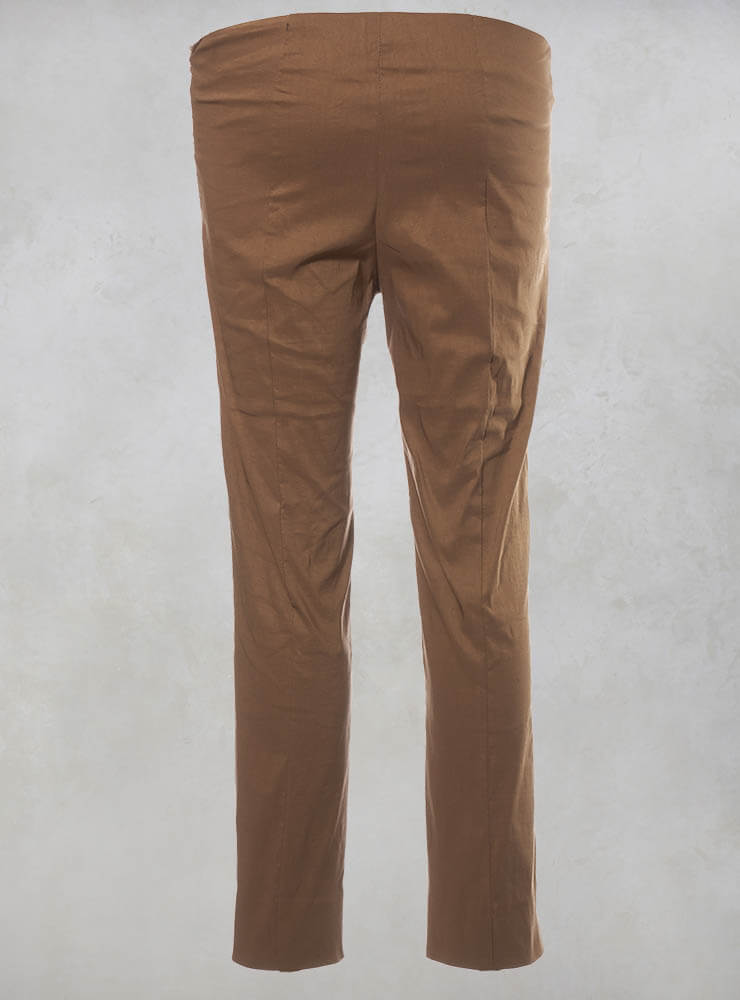 Stretch Ankle Grazor Trousers in Efesto Bronzo