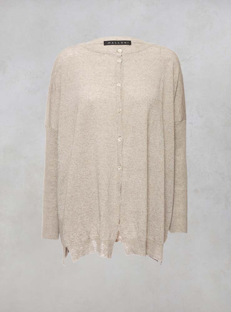 Oversized Cardigan in Orientale Miele