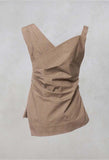 Sleeveless Structured Top in Somalo Miele