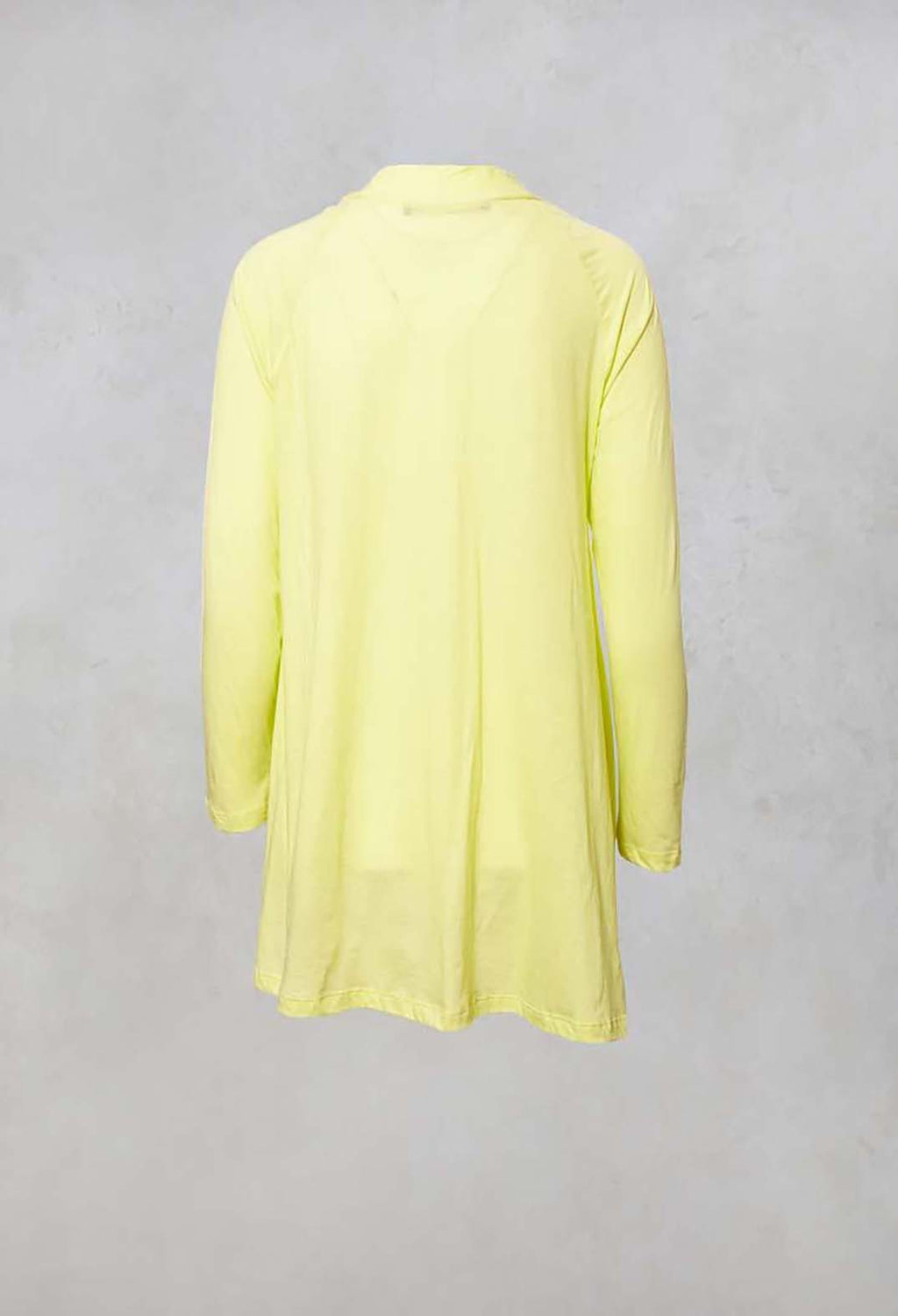Asymmetric Jersey Top in Donzella Lime