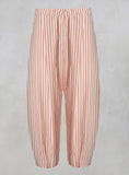 Striped Peg Trousers in Mattone