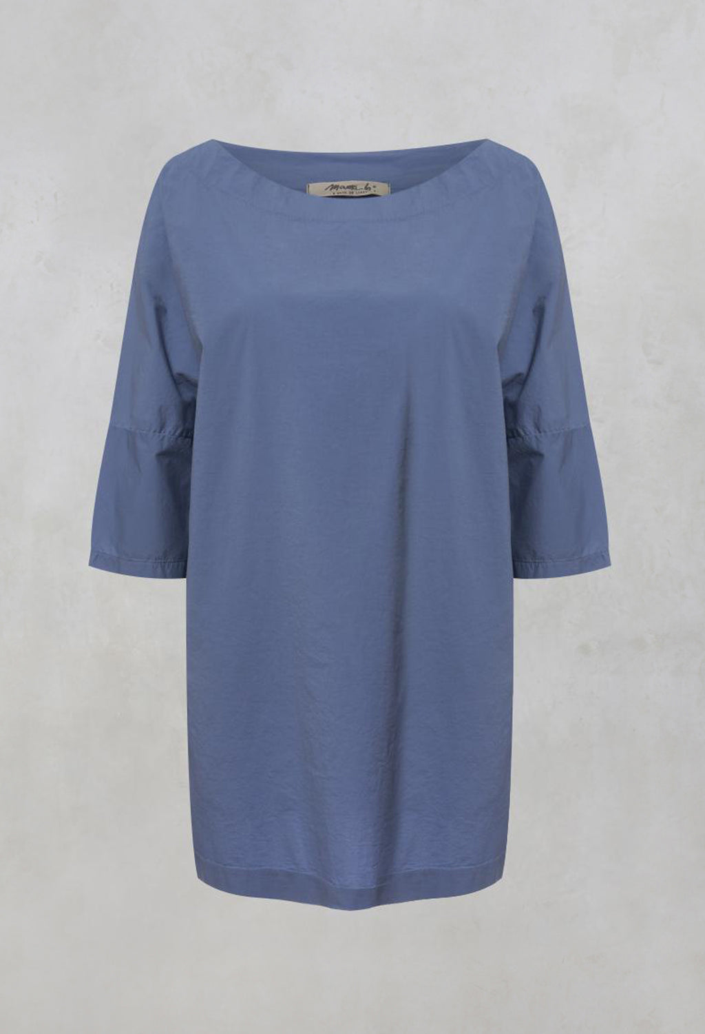 Verbena Relaxed Fit Top with Cowl Neck in Sky