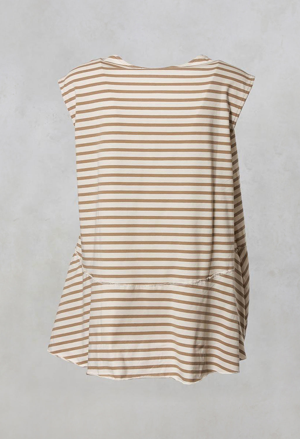 Gobi Striped Sleeveless Loose Fit Top in Spago / Osso