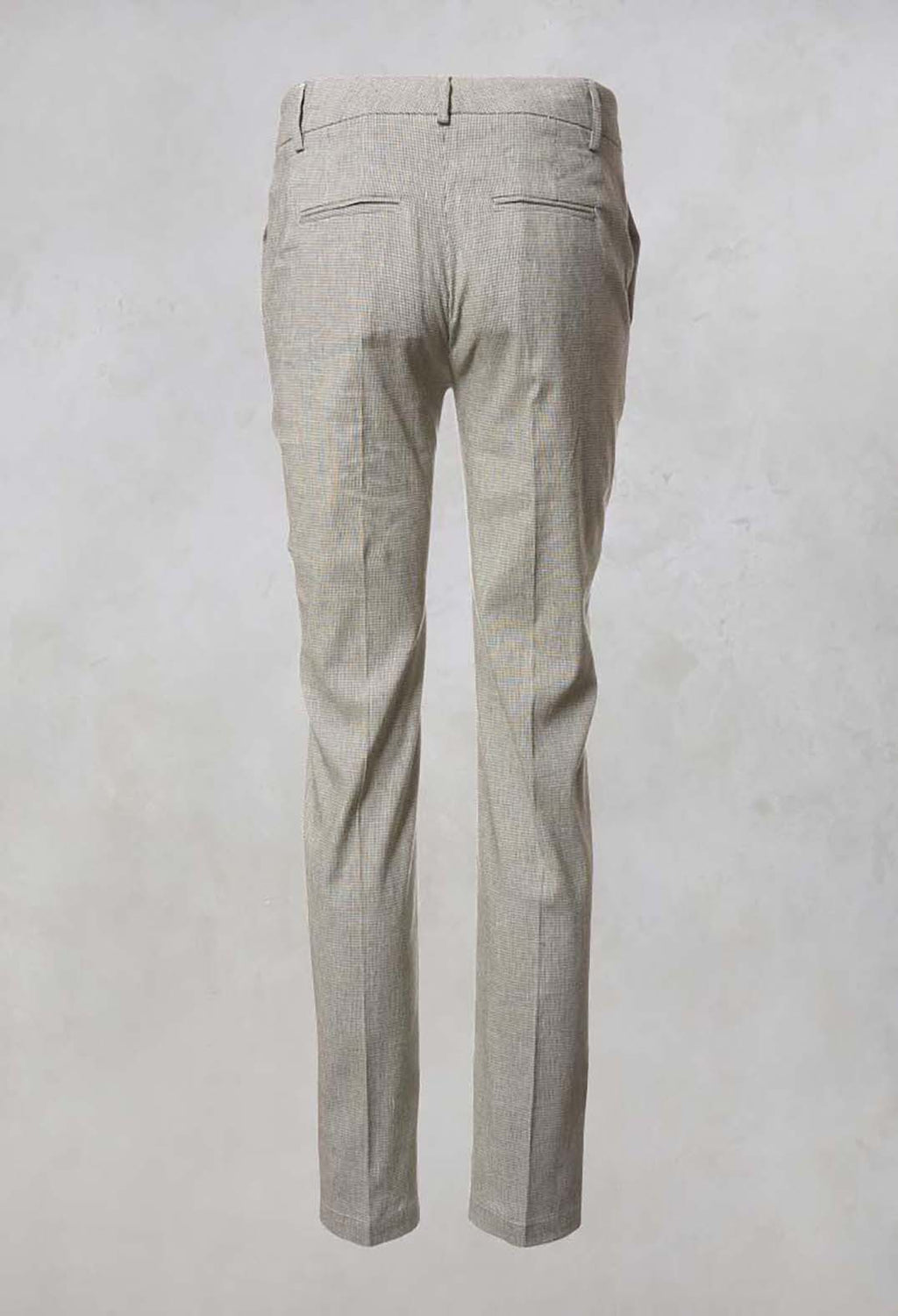 Checked Tailored Trousers in Alga