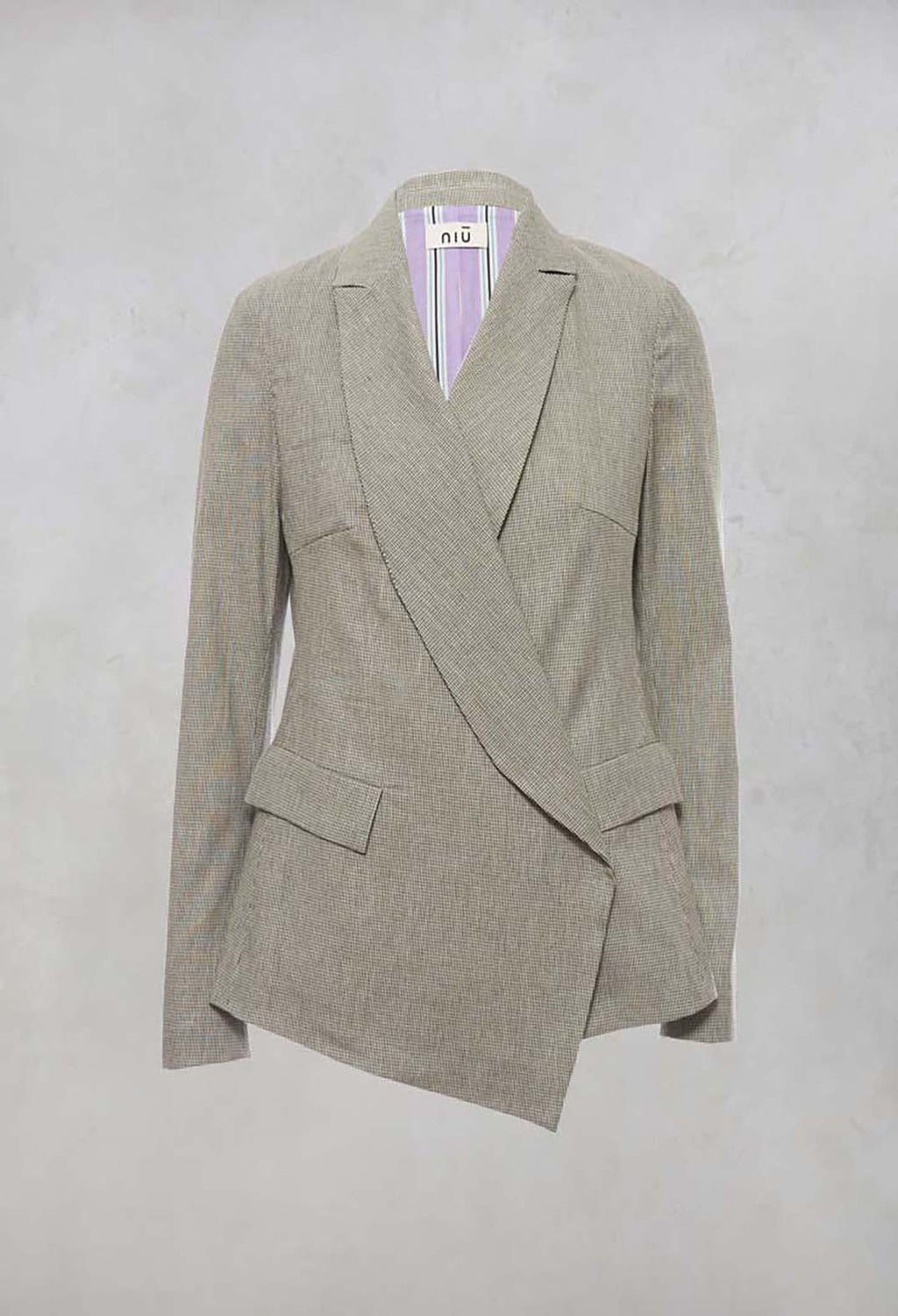 Wrap Over Blazer in Alga