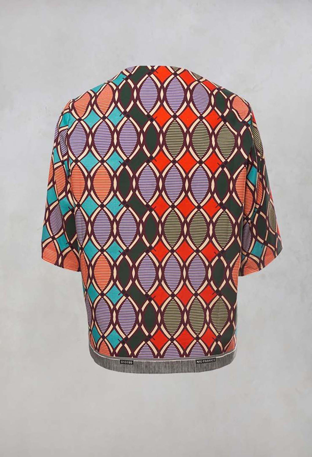 Boxy Open Front Jacket in Papaya