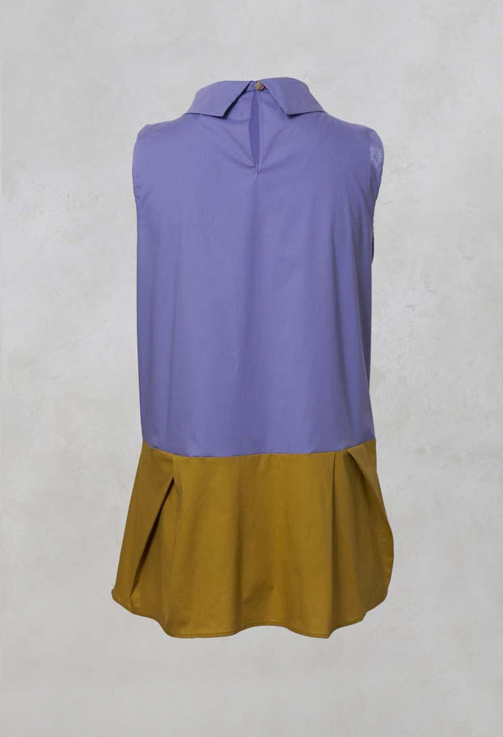 Sleeveless Colour Block Peplum Top in Lilla