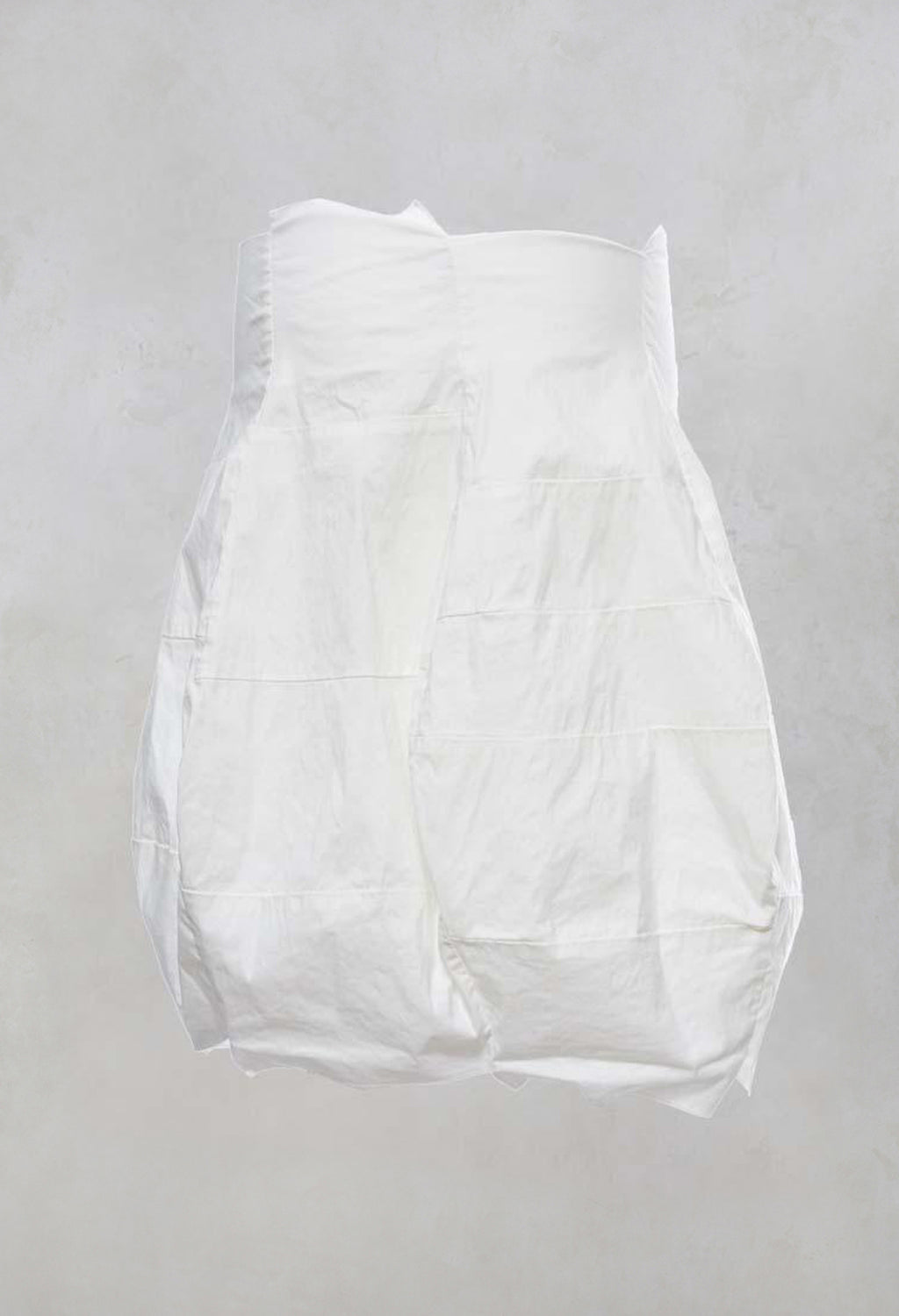 Patchwork Tulip Skirt in Offwhite