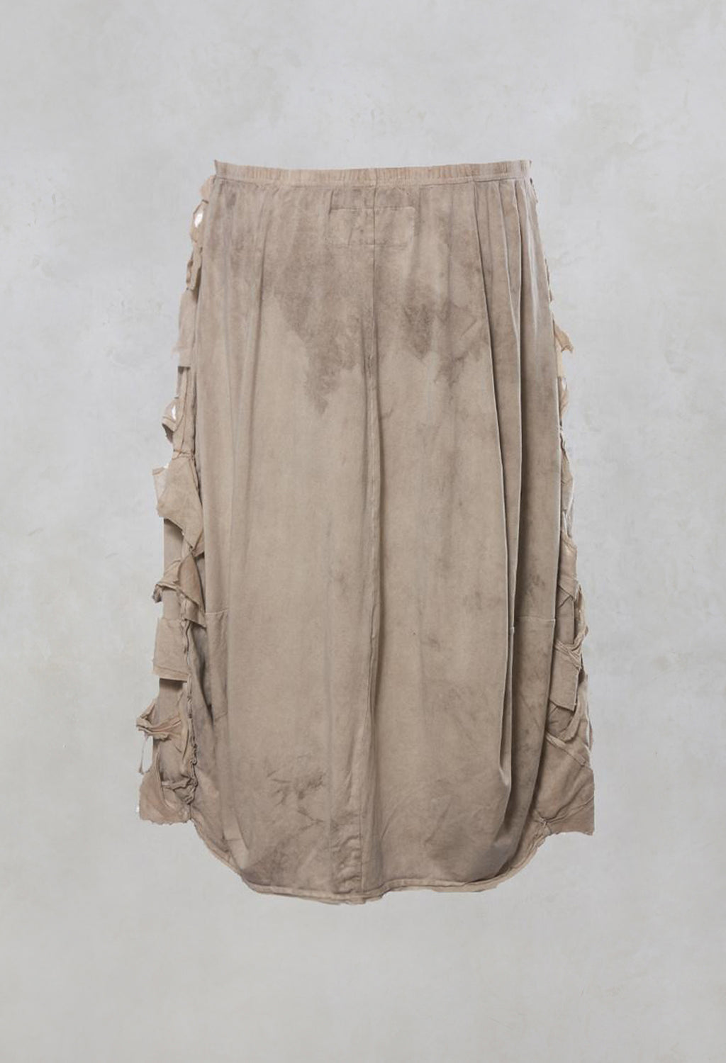 Lattice Fronted Midi Skirt in Umbra