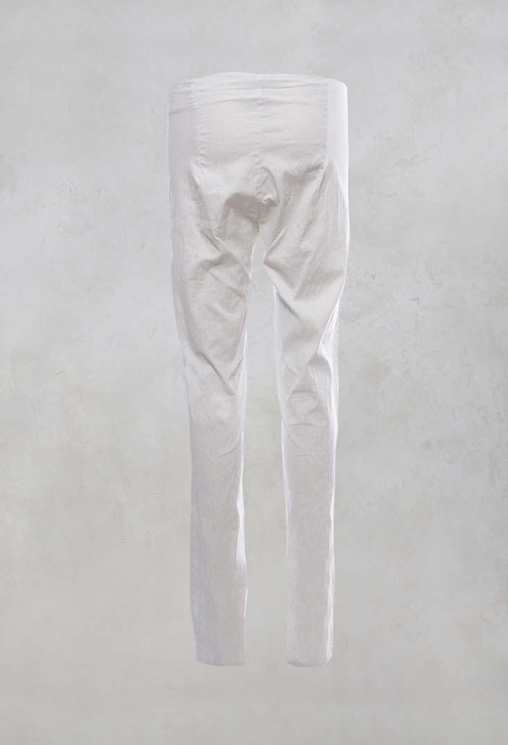 Stretchy Long Trousers in Mint Stripe