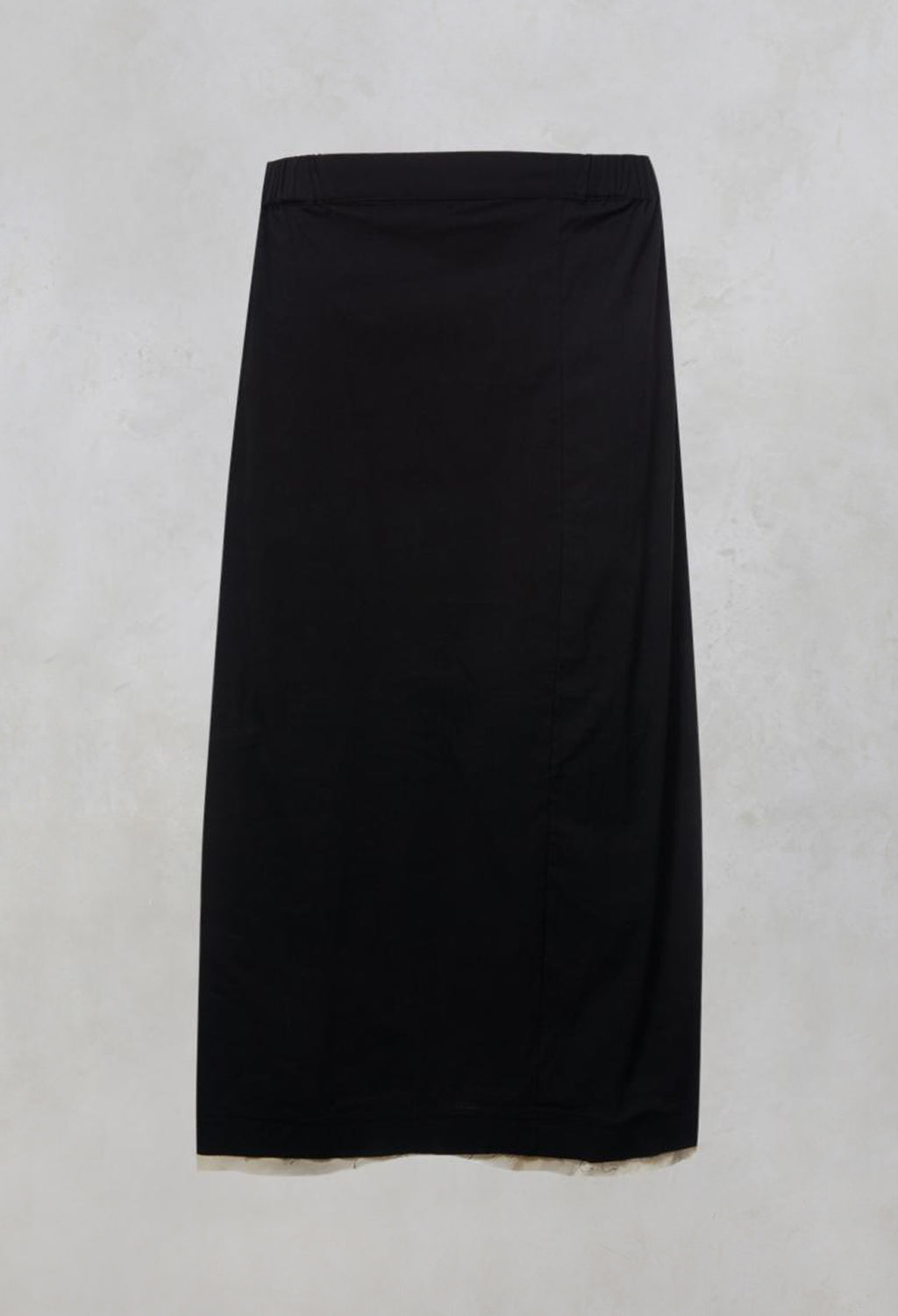 Contrast Raw Hem Skirt Trousers in Black / White
