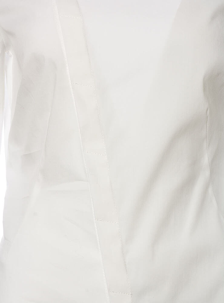 Camicia Seurat Shirt with Collar Detail in Latte