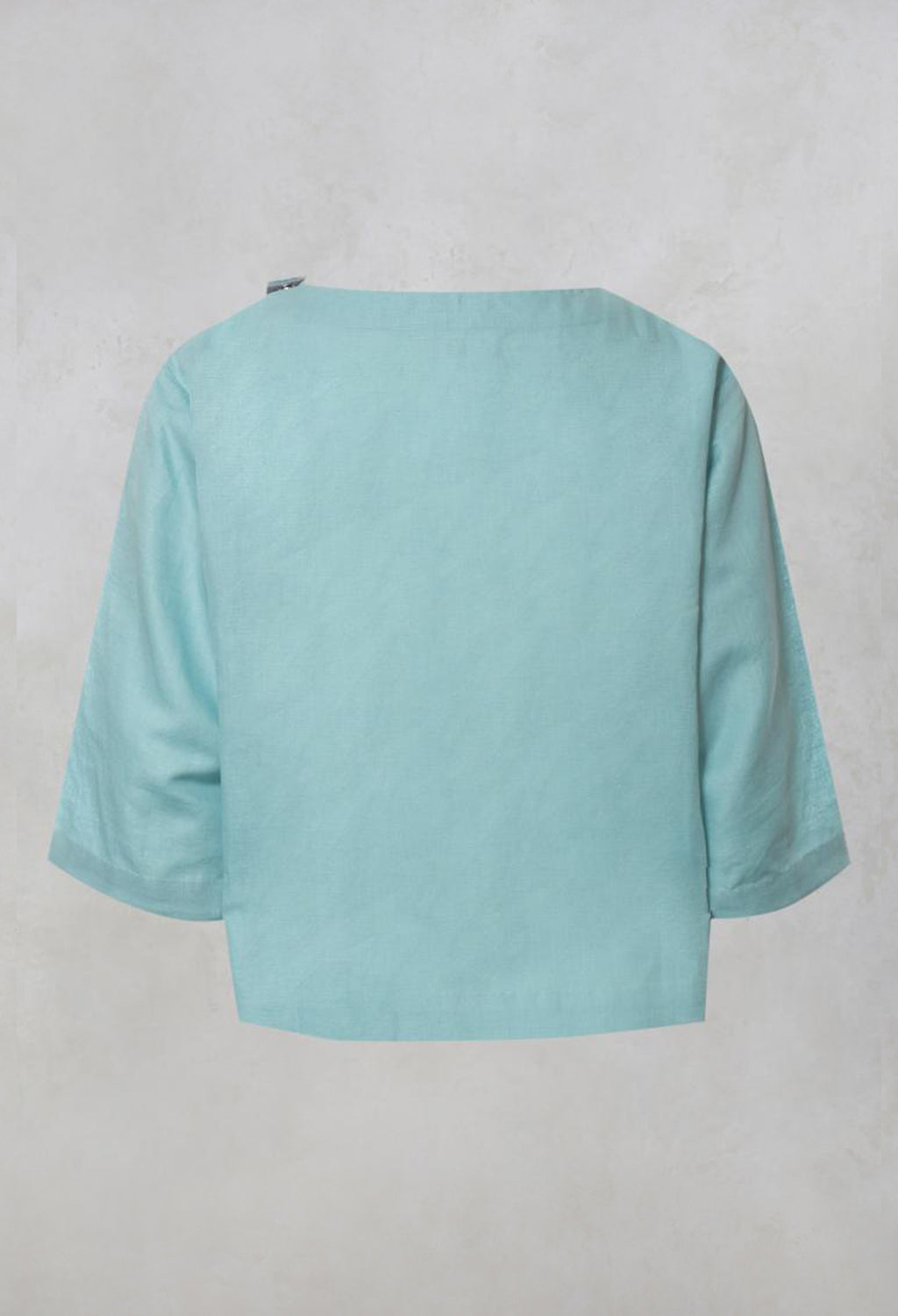 Three Quarter Length Sleeve Boxy Top in Green
