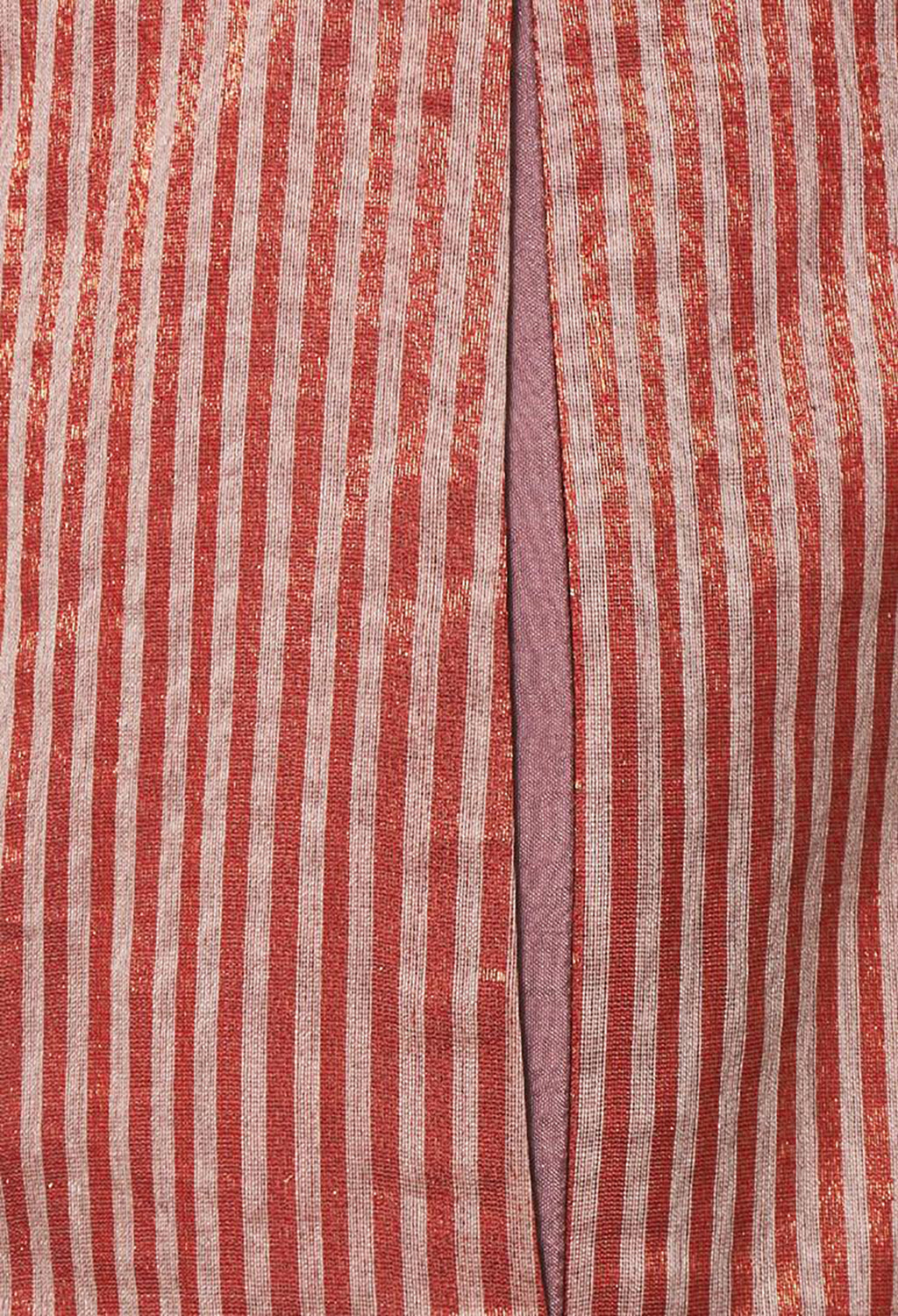Striped Flared Culottes in Red
