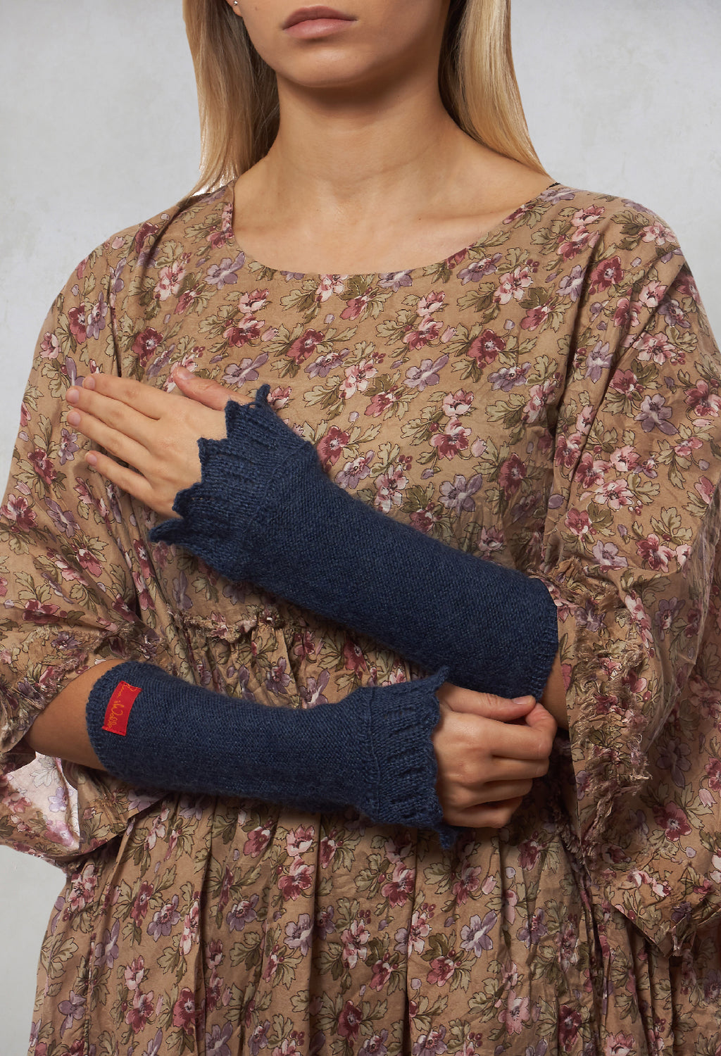 Knitted Cuffs in Blue