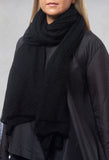 Fine Knit Scarf in Black