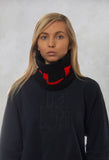 Faux Fur Snood in Molibdenite Black / Orange