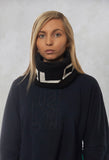Faux Fur Snood in Molibdenite Black / White