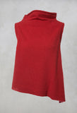 Knitted Vest in Red