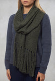 Knitted Scarf in Mirto