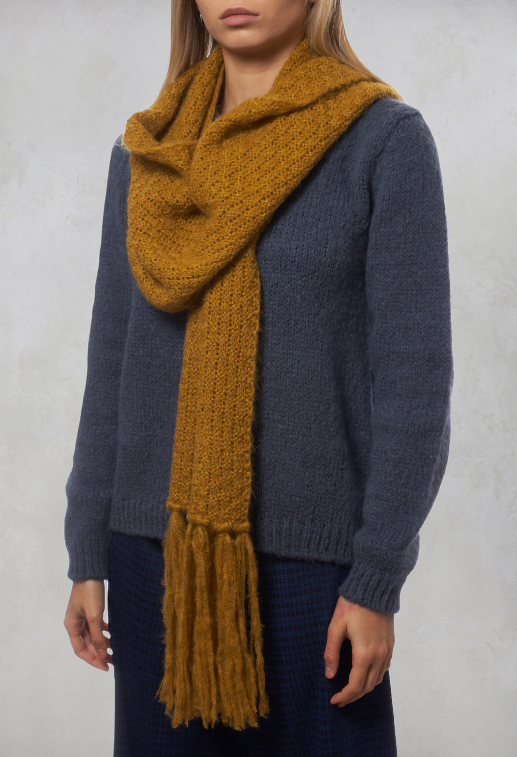 Knitted Scarf in Mustard