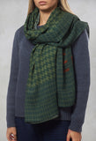 Patterned Scarf in Laurel