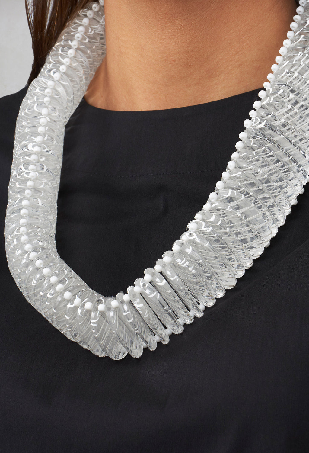 Chunky Necklace in White