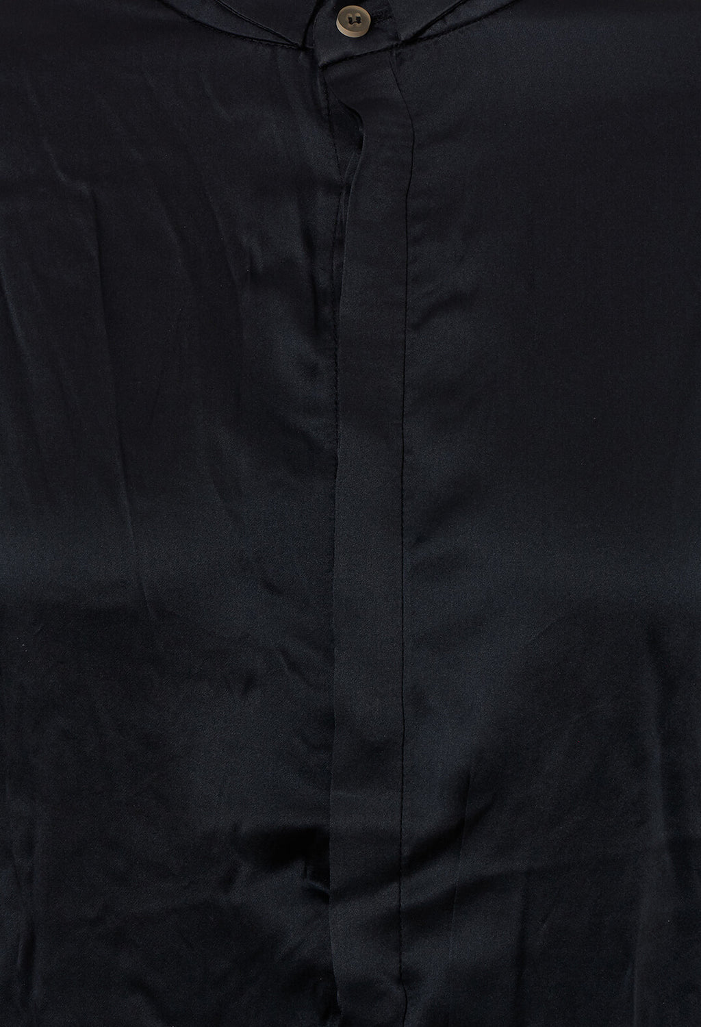 Silk Shirt in Dark Navy Longer