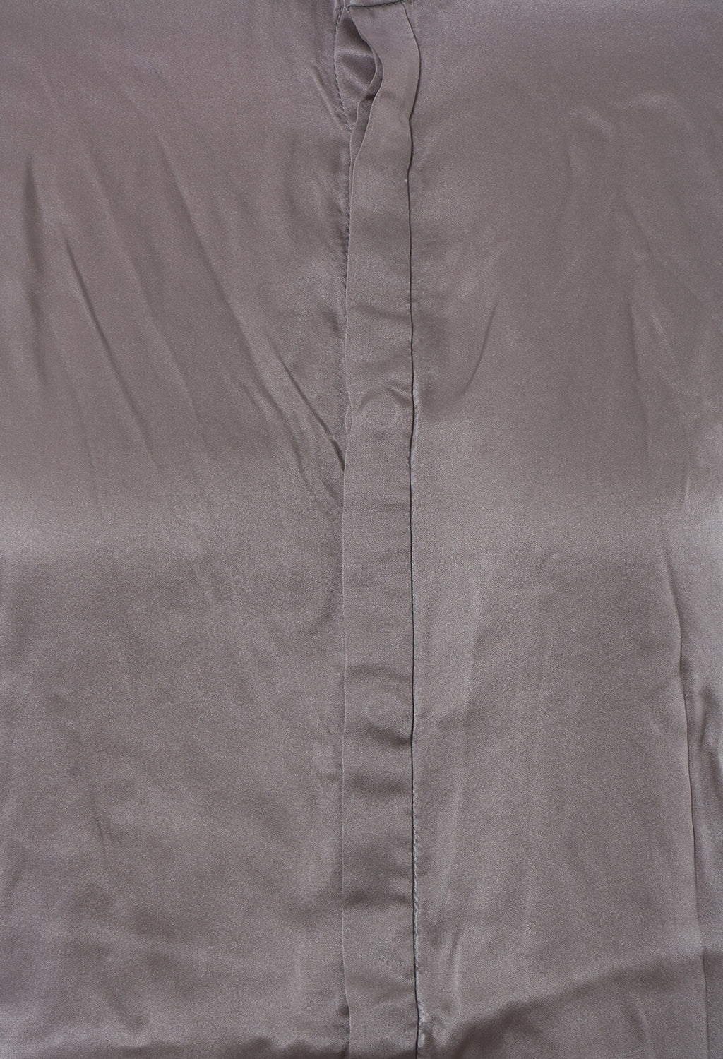 Silk Shirt in Grey Longer U446