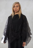 Sheer Poncho in Black