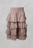 Crisp Cotton Skirt in Dusk Pink