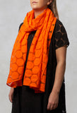 Spot Sheer Wrap in Orange