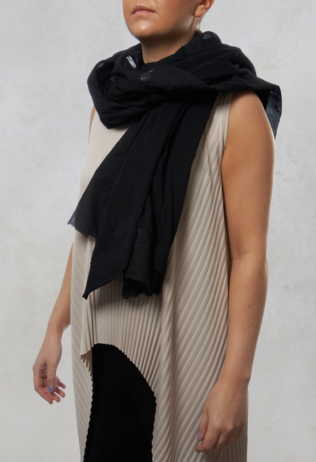 Scarf in Black Print