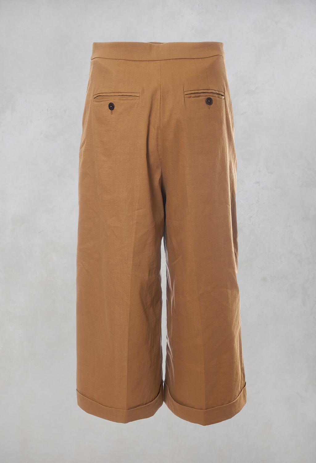 Cropped Wide Leg Trousers in Bobtail Bronzo
