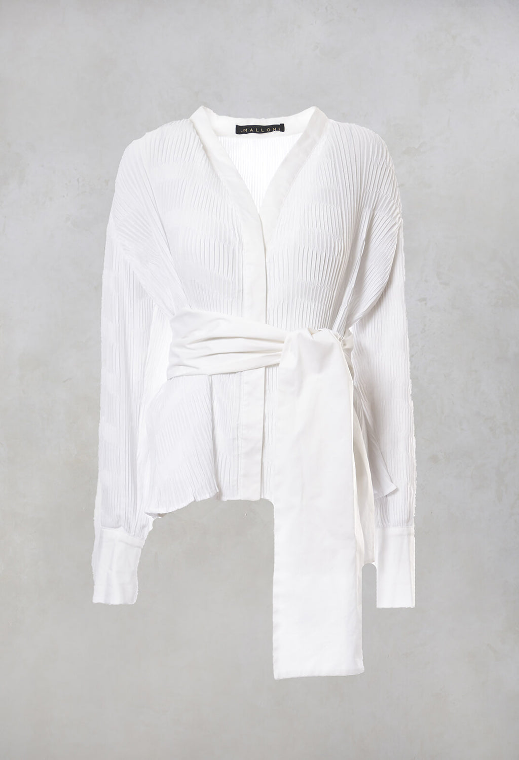 Belted Shirt in Bianco