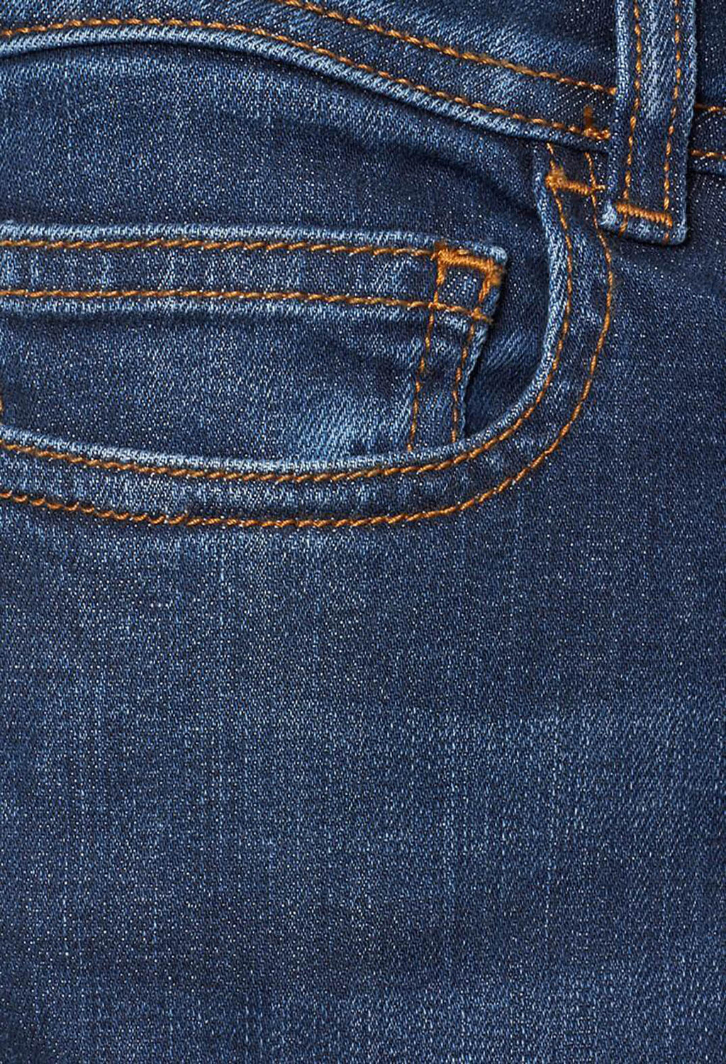 Straight Leg Denim Jeans in Blue