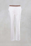 Straight Leg Trousers in Chalk
