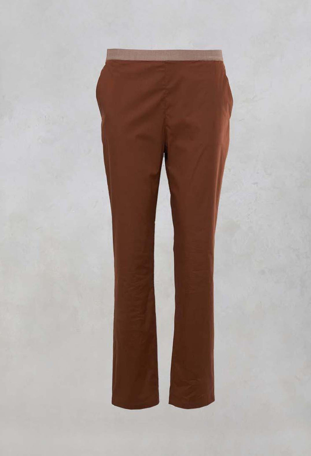 Straight Leg Trousers in Cocoa