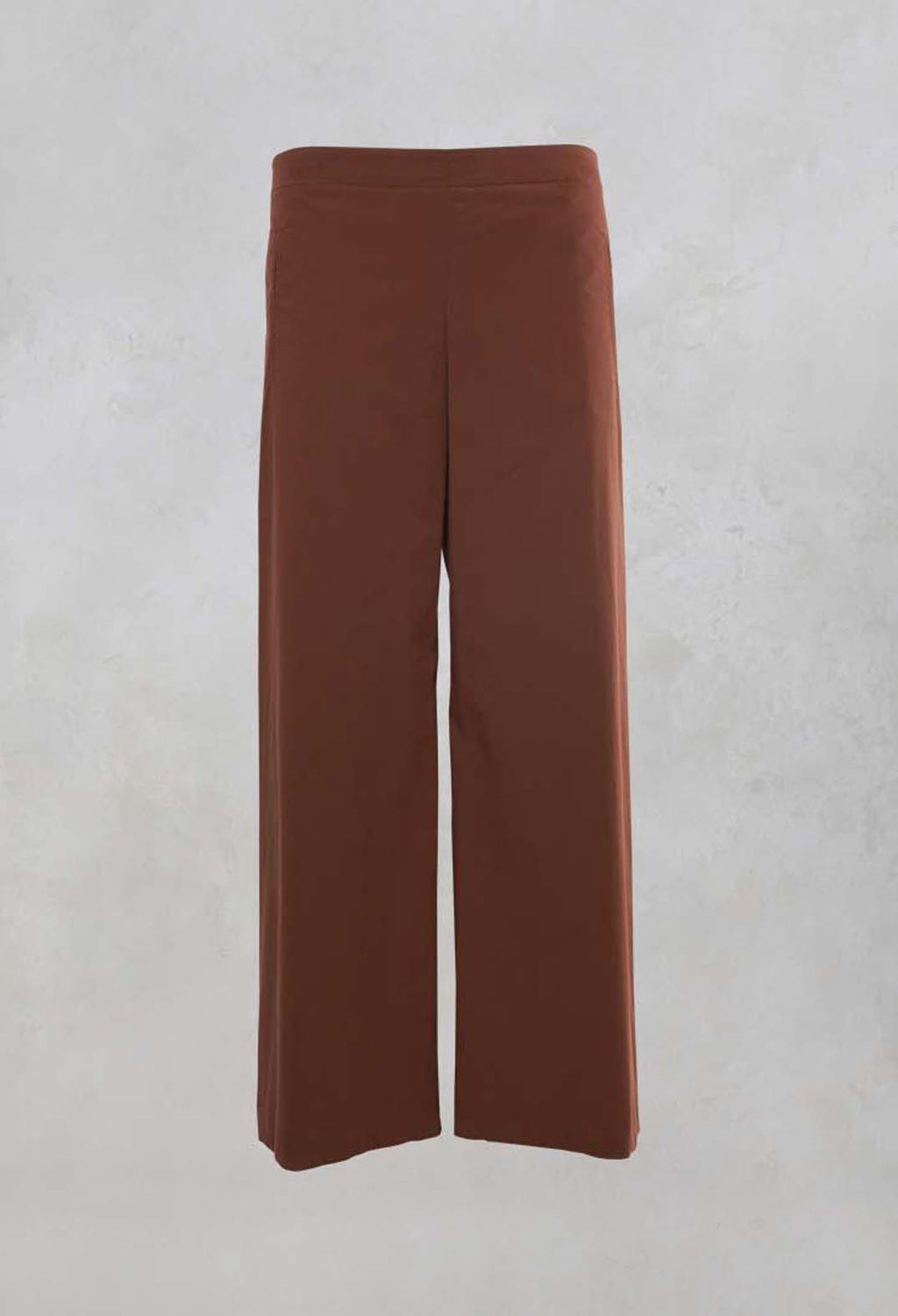 Wide Leg Trousers in Cocoa