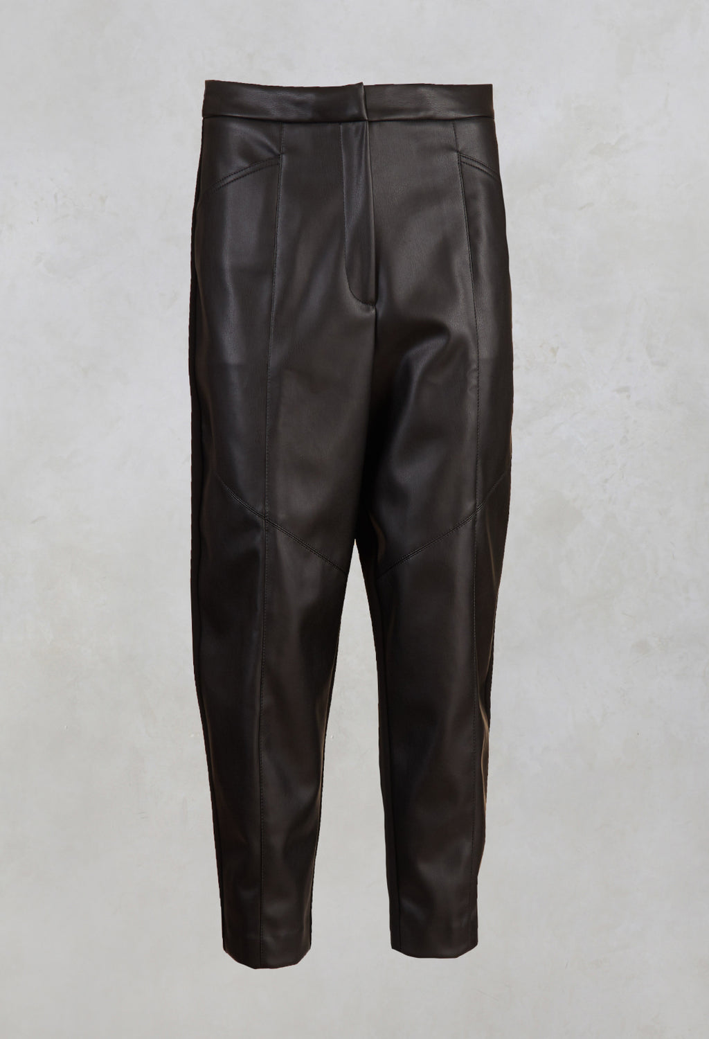 Leather Trousers in Black