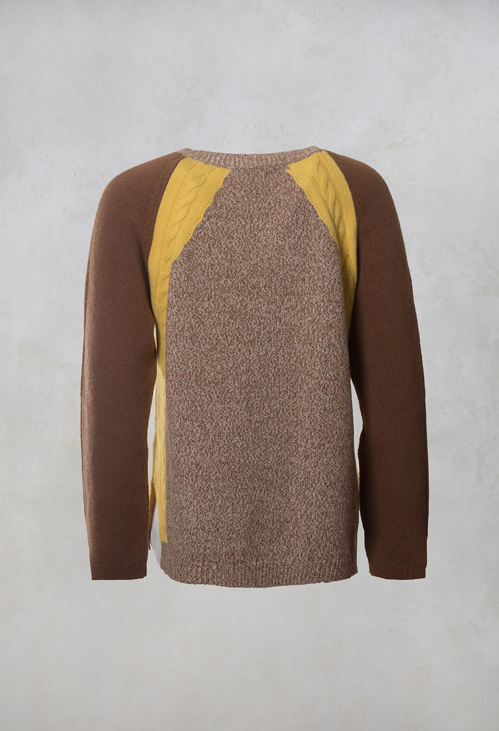 Colourblock Jumper in Brown