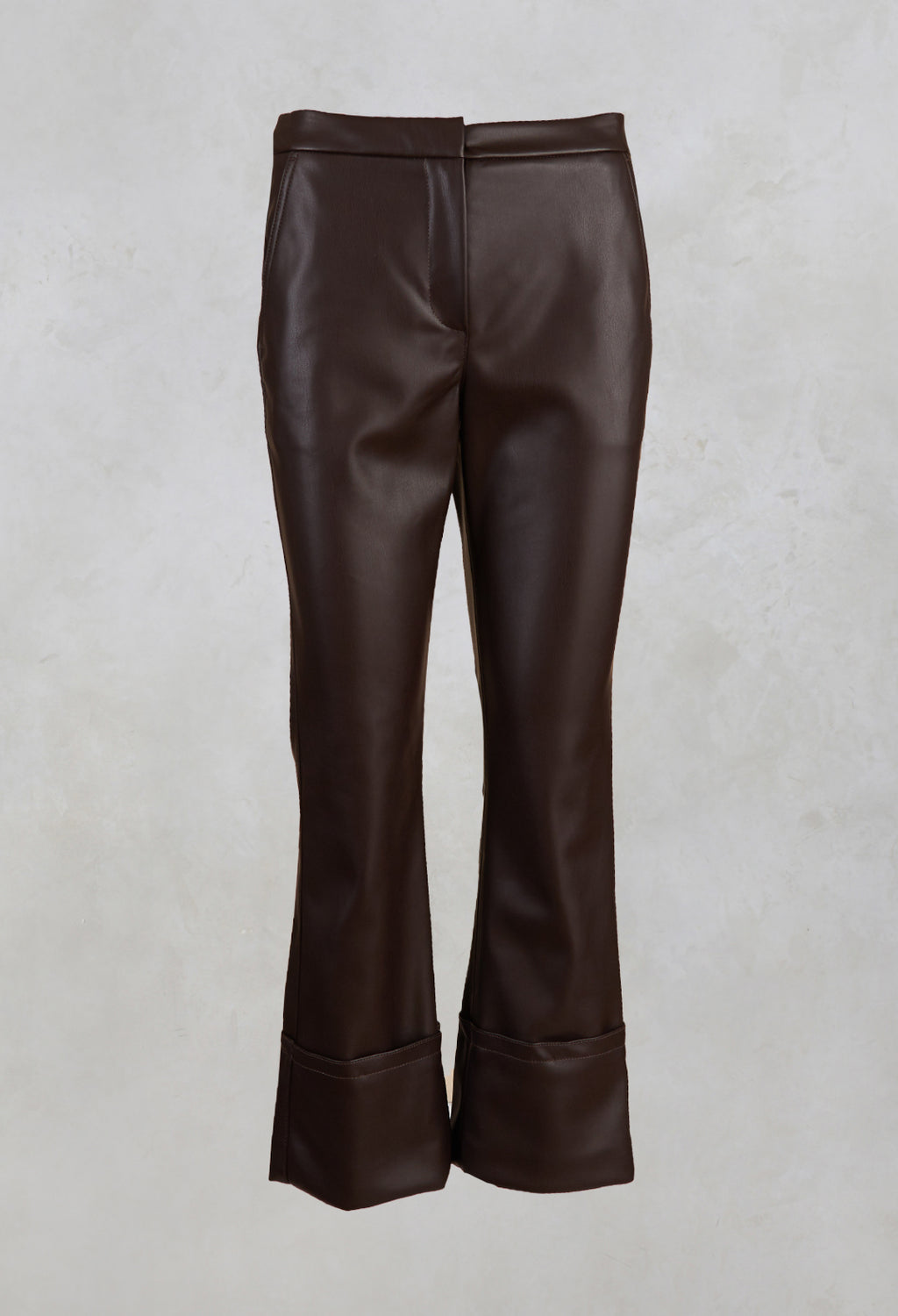 Leather Trousers in Espresso Brown
