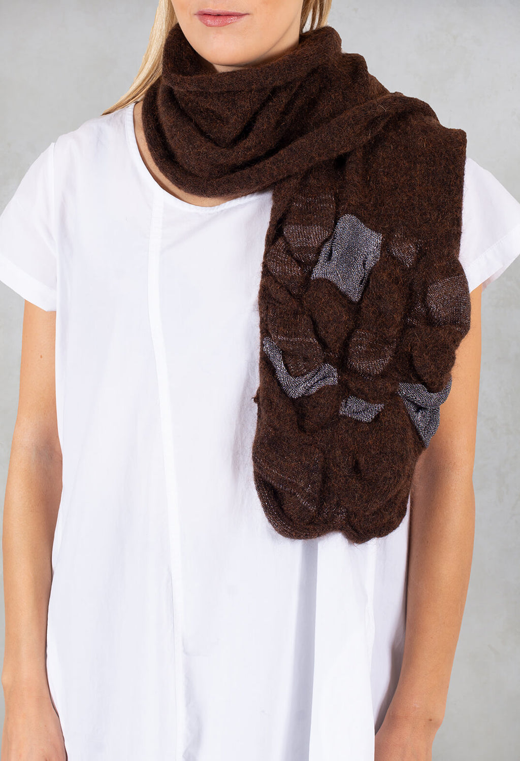 Knitted Scarf in Wine