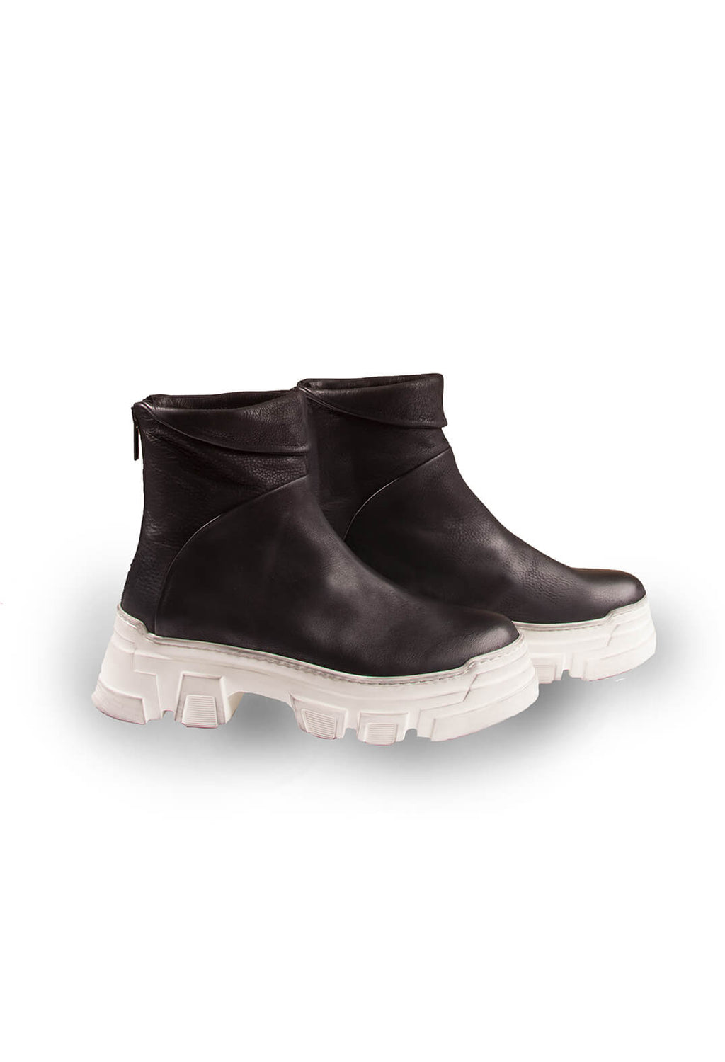 Ankle Boots in Gasoline Nero