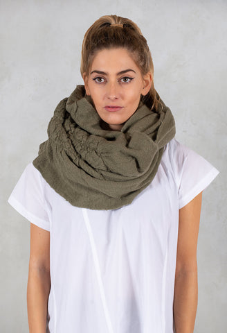 Textured Snood in Curry