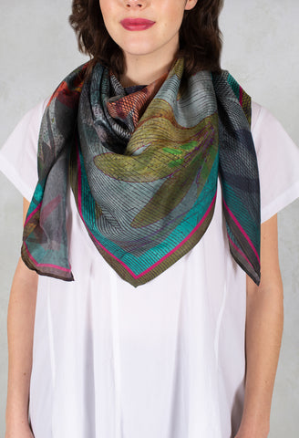 Sqaure Scarf in Solitude Multicolor
