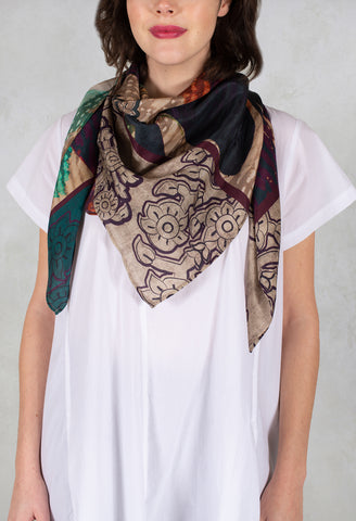 Square Scarf in Winter Rain Multicolor