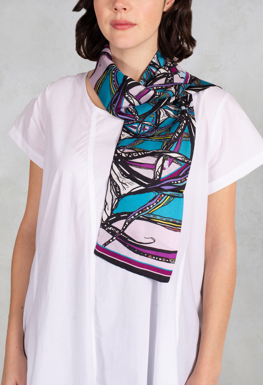 Silk Scarf in Pink Wind