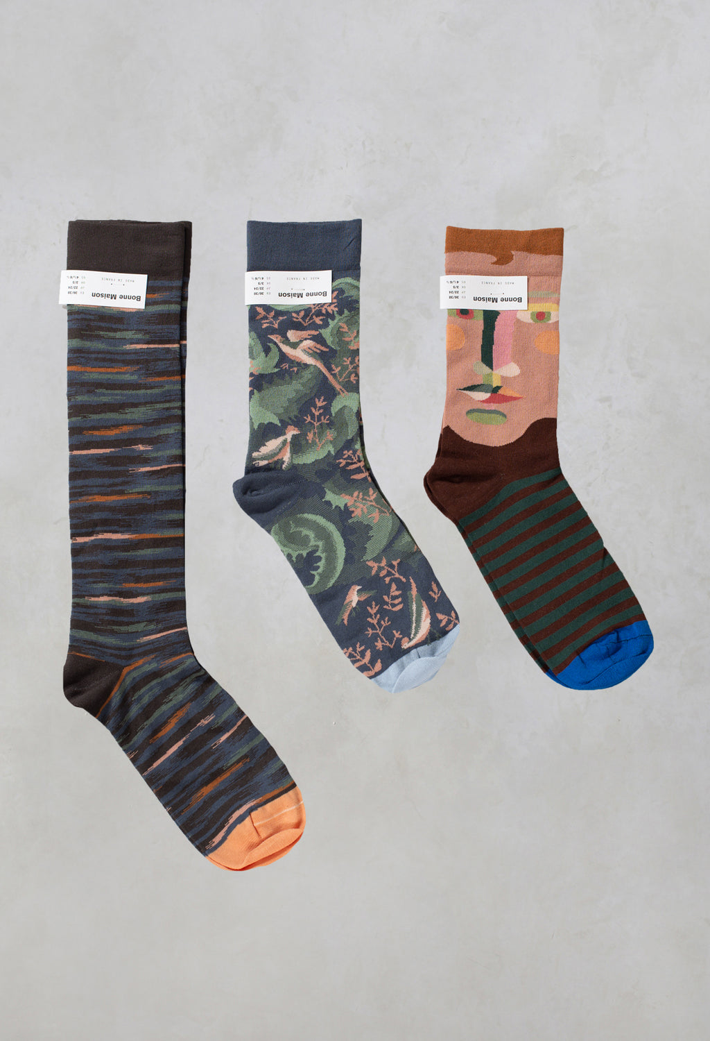 Socks in Multi Design Pack of 3
