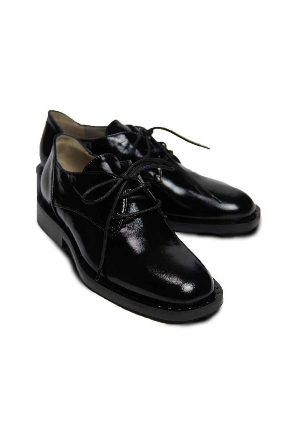Patent Brogues in Nero